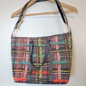 Vera Bradley Midtown Tote Preppy Poly City Plaid